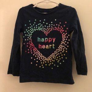 🔥4/$10🔥 5T Carter's happy heart Tee